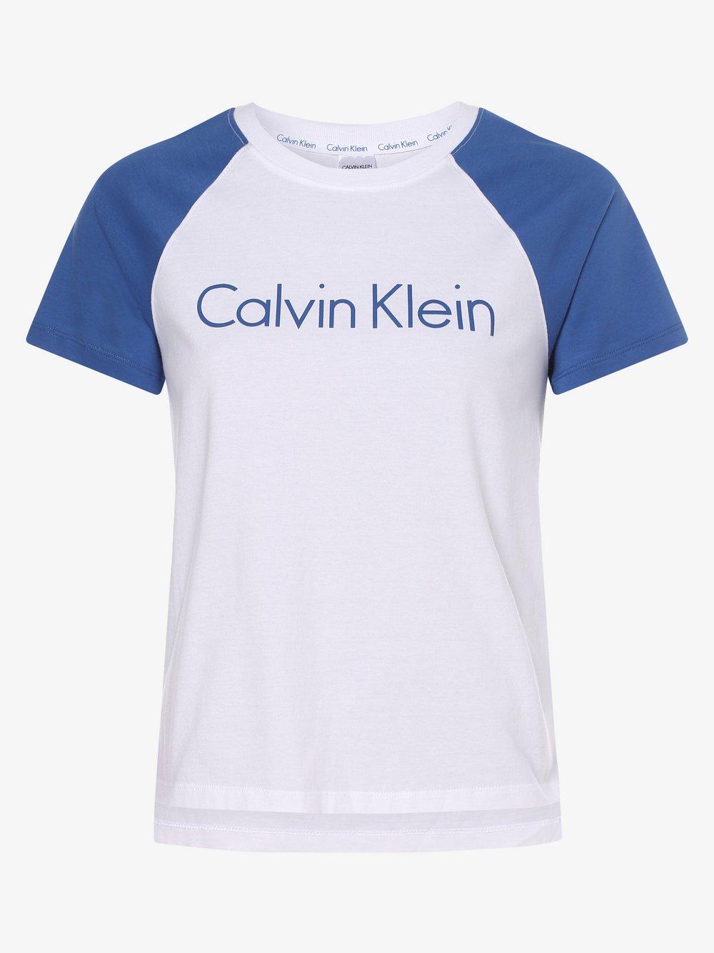 Calvin Klein - Damska koszulka od piżamy, biały