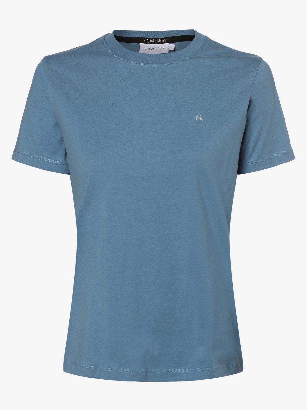 Calvin Klein - T-shirt damski, niebieski