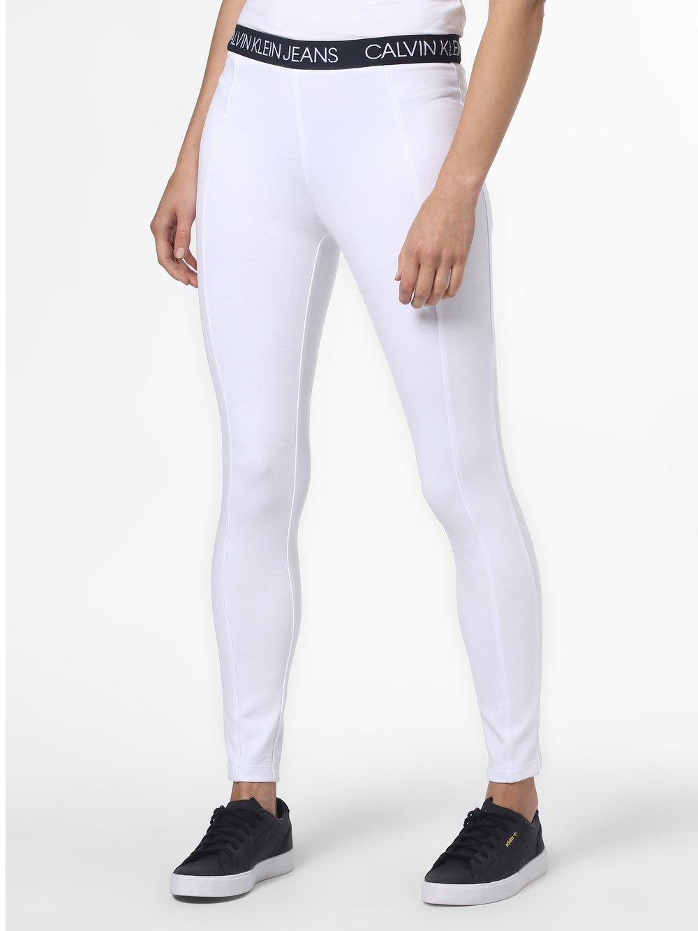 Calvin Klein Jeans - Legginsy damskie, biały