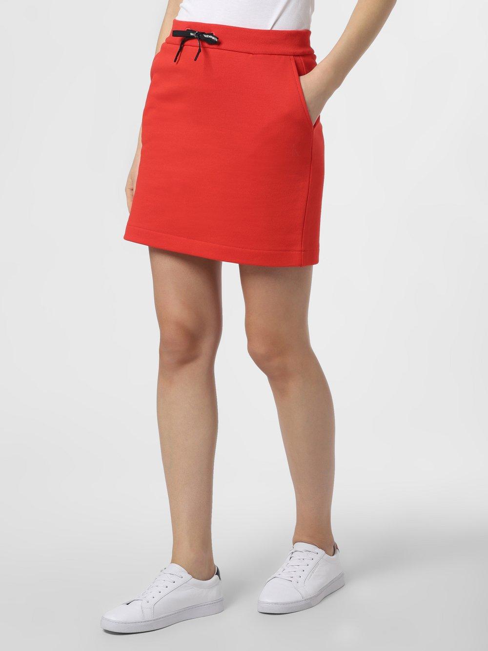 Calvin Klein Jeans - Spódnica damska, czerwony
