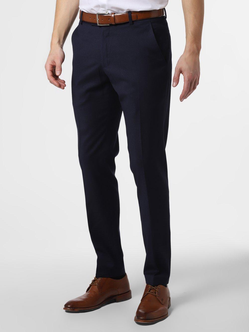Mc Earl – Męskie spodnie od garnituru modułowego – Manhatten, niebieski Van Graaf 462649-0004