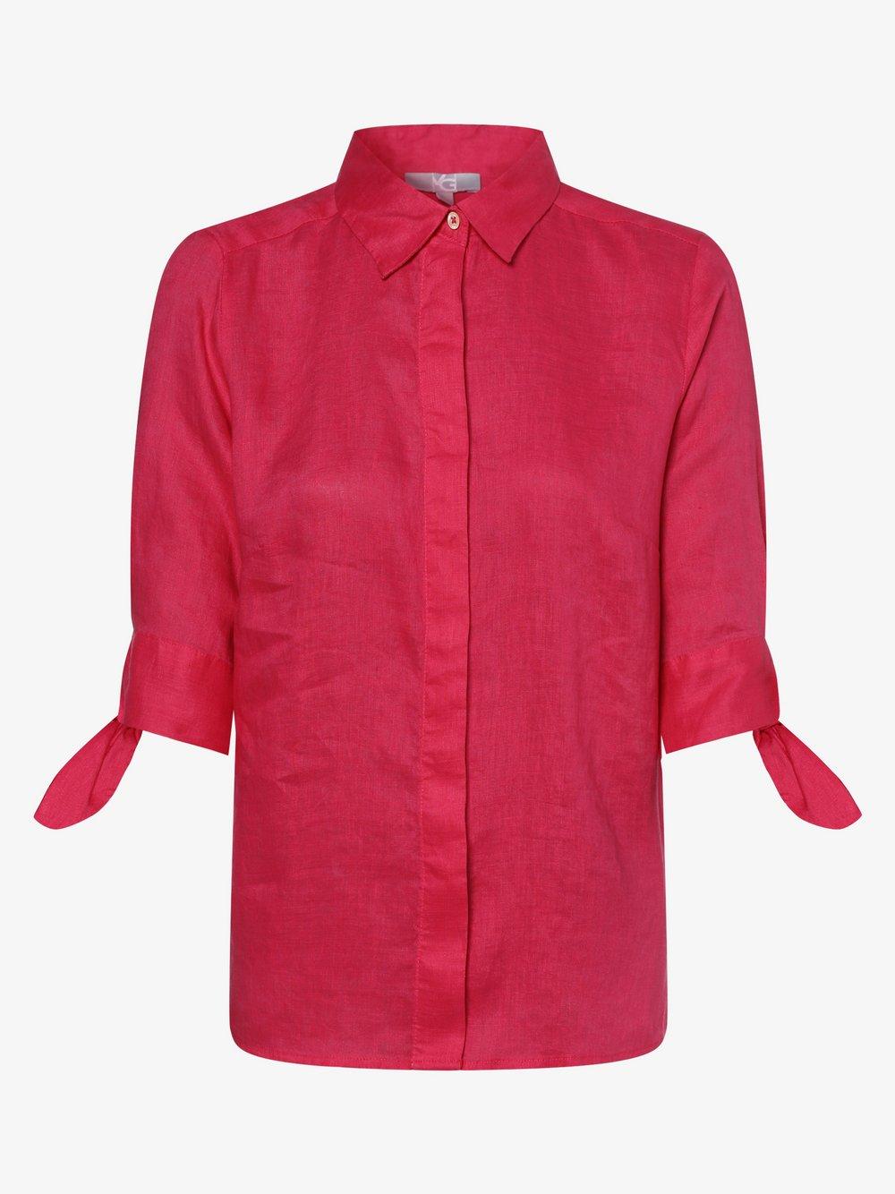 VG – Damska bluzka lniana, różowy Van Graaf 462668-0007-00400