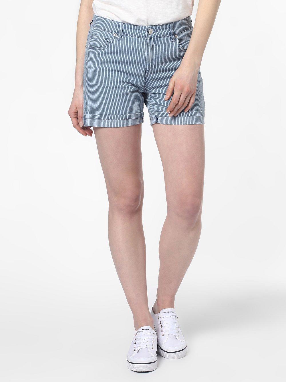 Marie Lund - Damskie krótkie spodenki jeansowe, niebieski