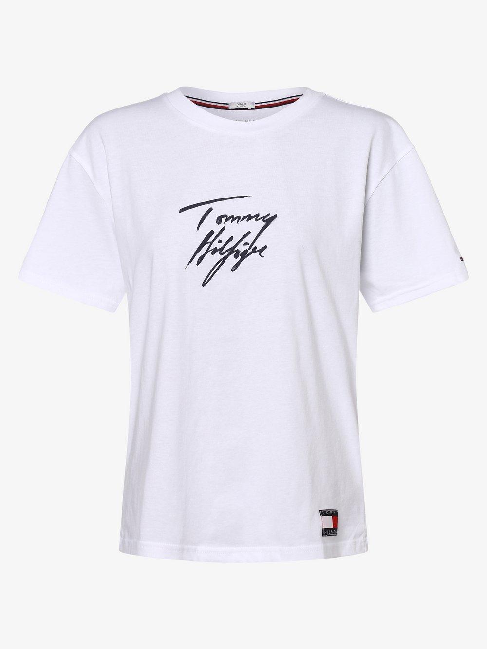 Tommy Hilfiger - Damska koszulka od piżamy, biały