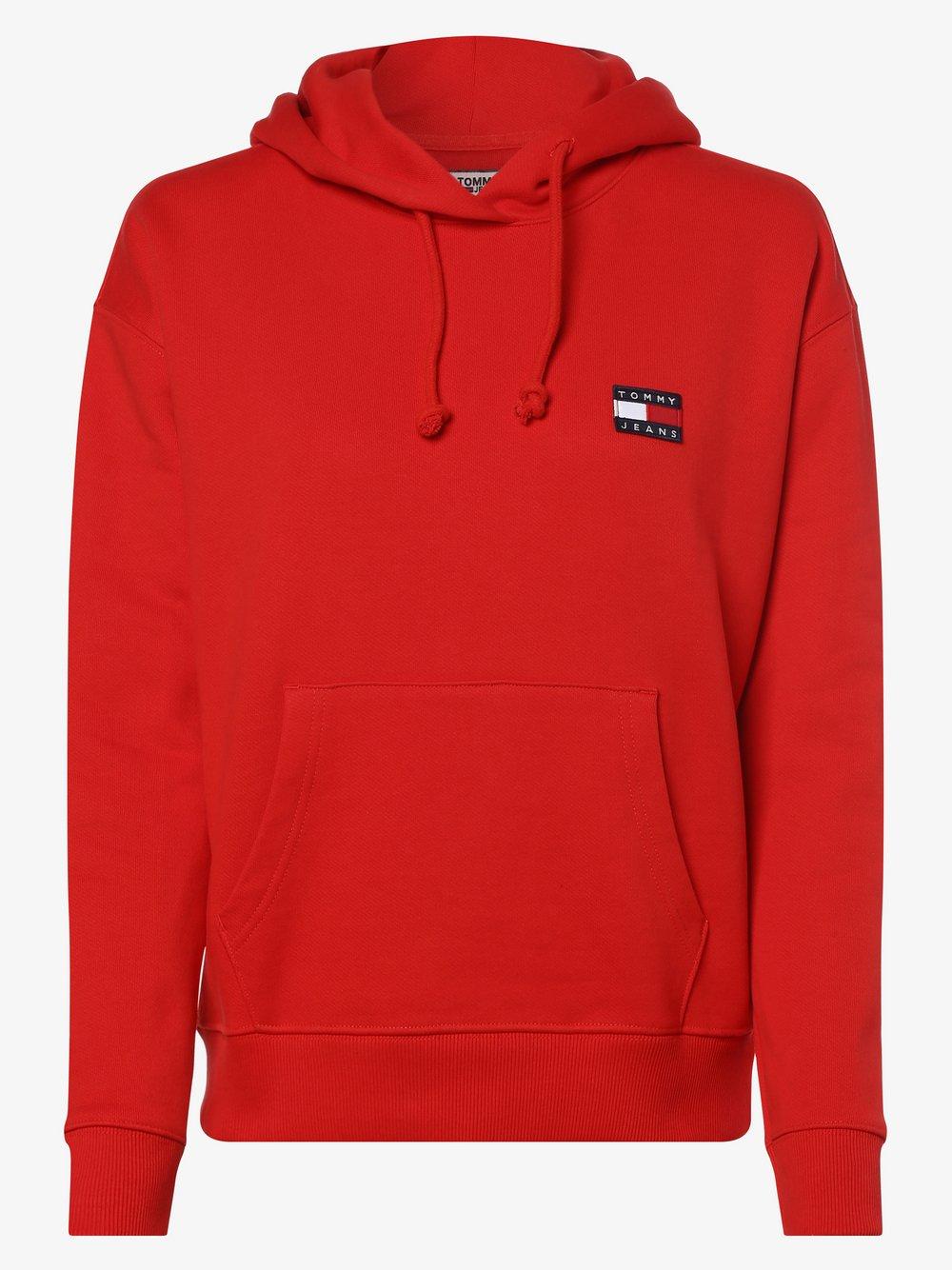 Tommy Jeans - Damska bluza nierozpinana, czerwony
