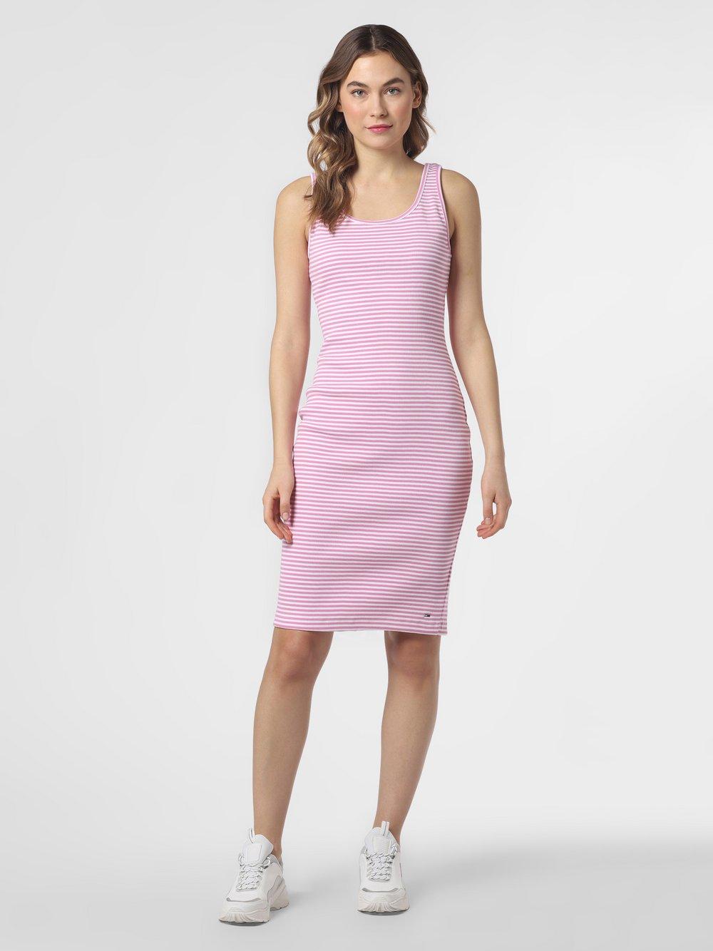 Tommy Jeans - Sukienka damska, różowy