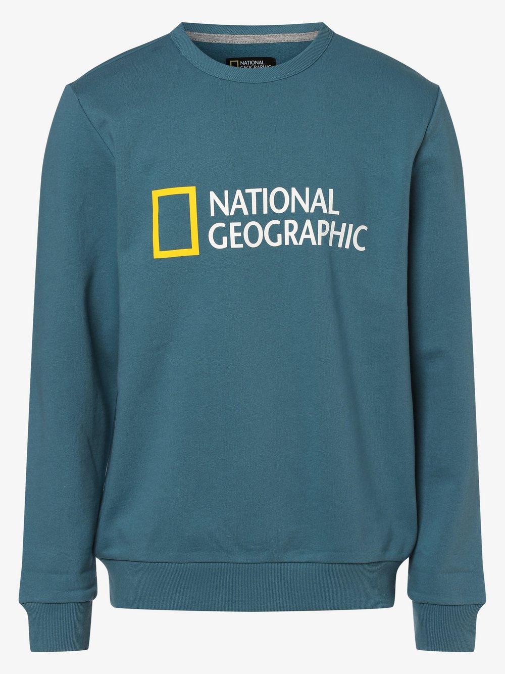 National Geographic - Męska bluza nierozpinana, niebieski