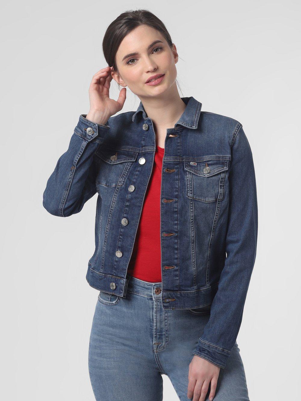 Tommy Jeans - Damska kurtka jeansowa, niebieski