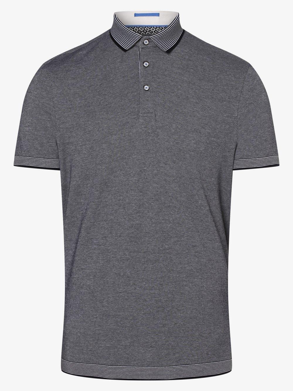 Ted Baker – Męska koszulka polo – Lateone, niebieski Van Graaf 463313-0001