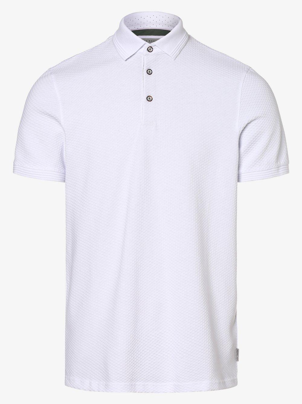 Ted Baker – Męska koszulka polo – Infuse, biały Van Graaf 463316-0001-09990
