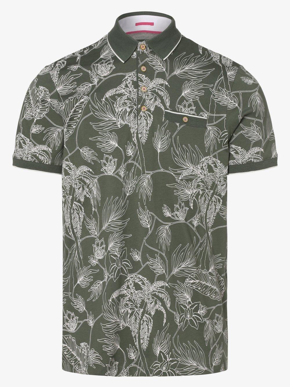 Ted Baker – Męska koszulka polo – Teeleaf, zielony Van Graaf 463317-0001