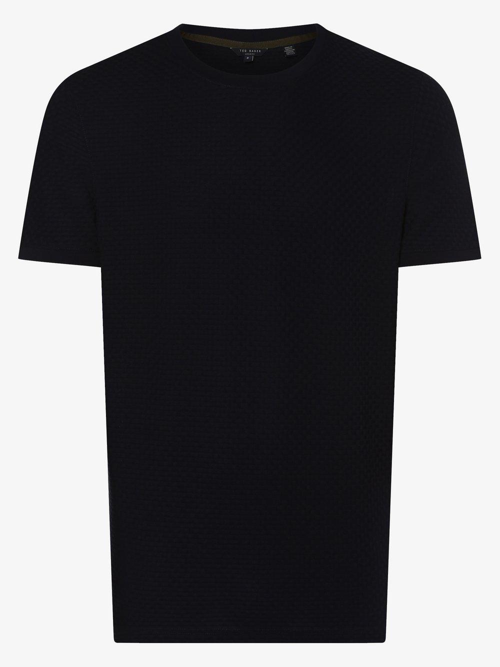Ted Baker – T-shirt męski – Caramel, niebieski Van Graaf 463318-0003