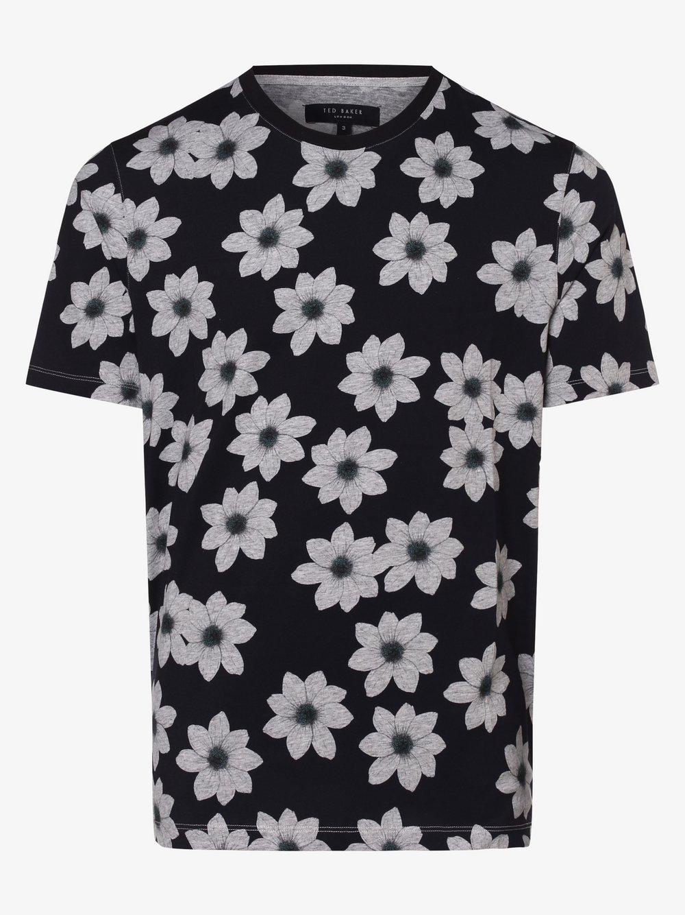 Ted Baker – T-shirt męski – Nade, niebieski Van Graaf 463321-0001-09940