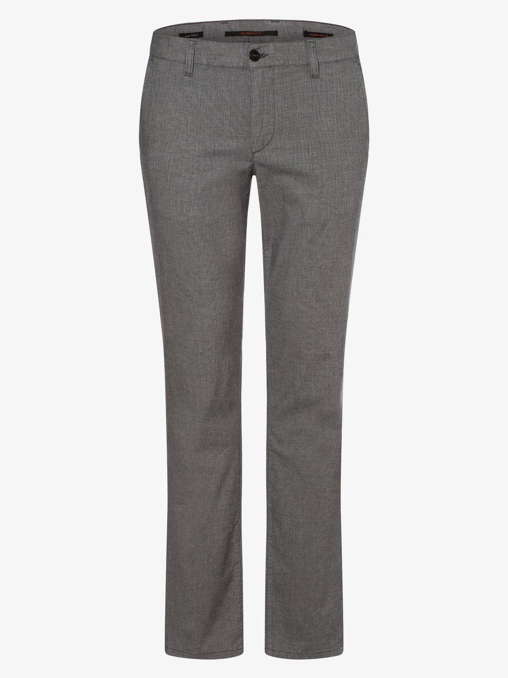 Alberto – Spodnie męskie – Lou-J, szary Van Graaf 463331-0001-03532