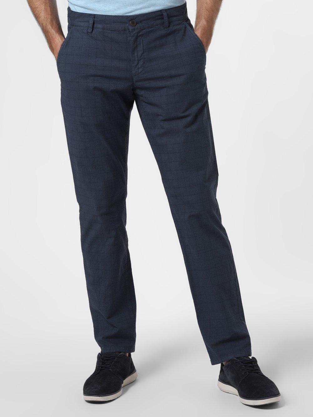 Alberto – Spodnie męskie – Lou-J, niebieski Van Graaf 463332-0001