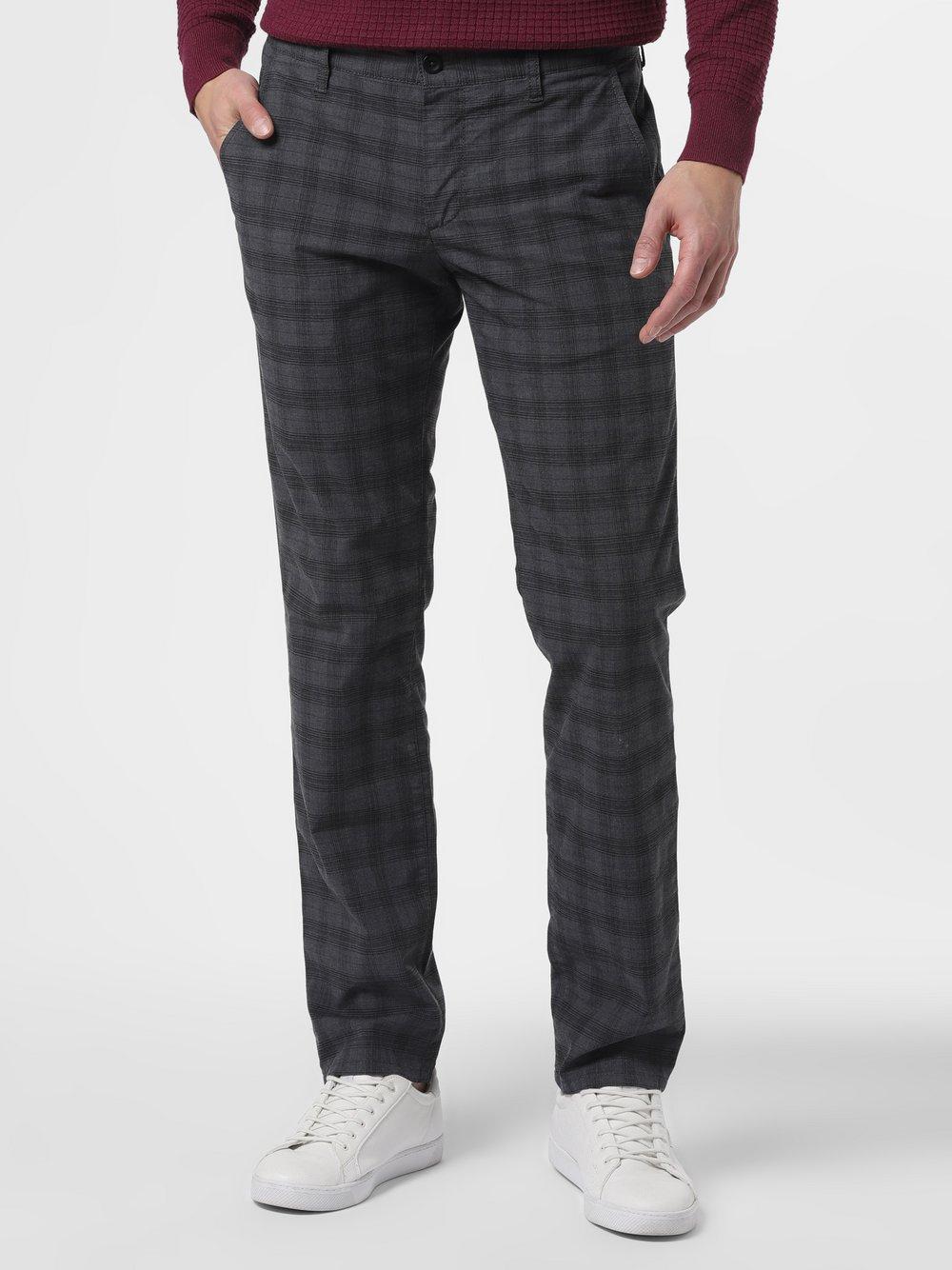 Alberto – Spodnie męskie – Lou-J, szary Van Graaf 463334-0001-03232