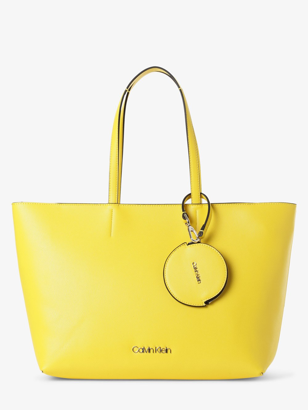 Calvin Klein - Damska torba shopper, żółty