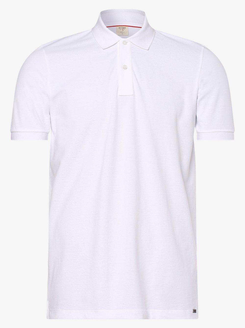 Olymp Level Five – Męska koszulka polo, biały Van Graaf 463439-0002