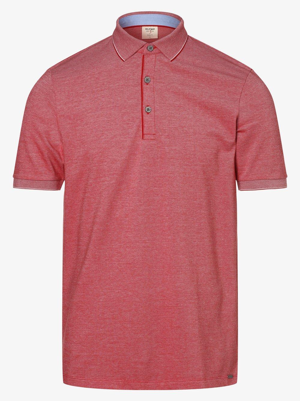 Olymp Level Five – Męska koszulka polo, czerwony Van Graaf 463441-0006