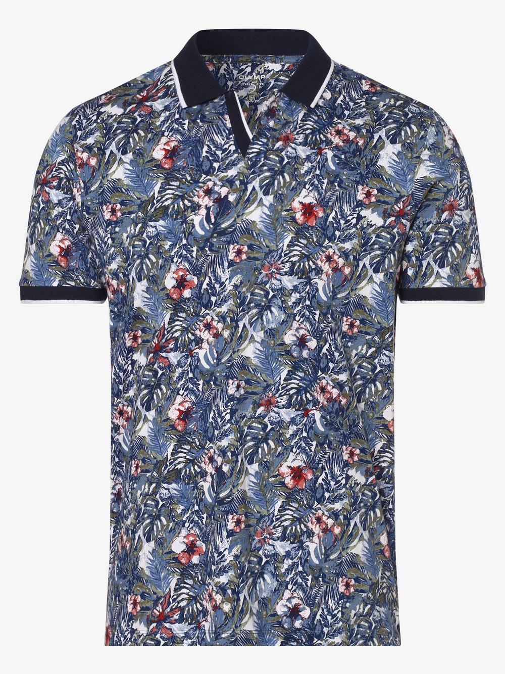 Olymp Level Five – Męska koszulka polo, niebieski Van Graaf 463443-0001-09920