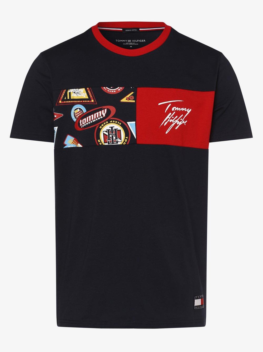 Tommy Hilfiger - Męska koszulka od piżam, niebieski