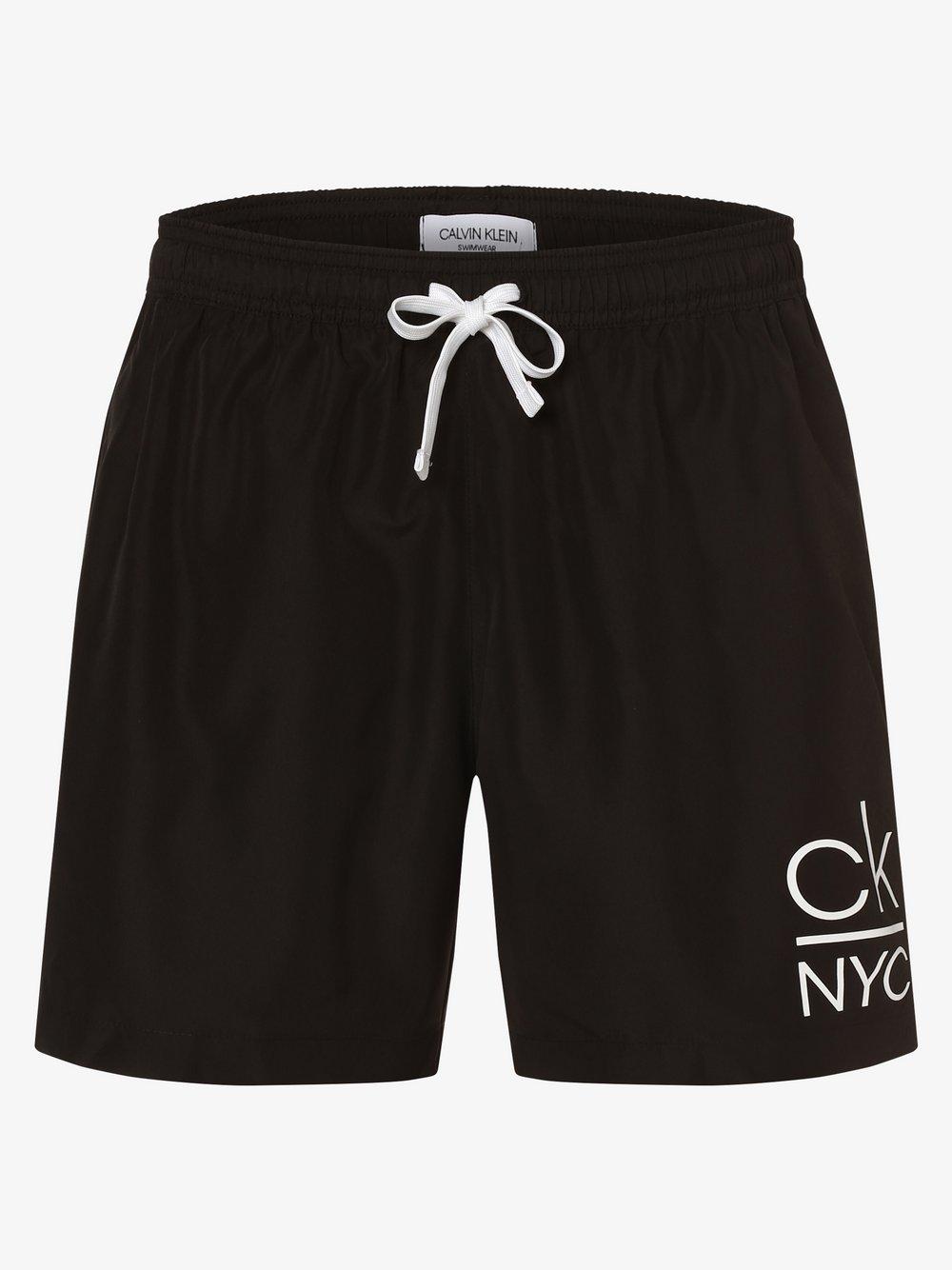 Calvin Klein - Męskie spodenki kąpielowe, czarny
