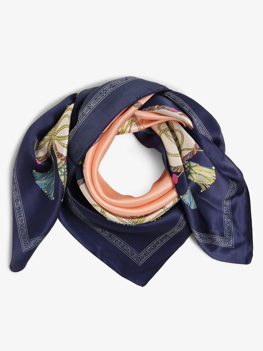 Franco Callegari - Damska chusta z jedwabiu, niebieski