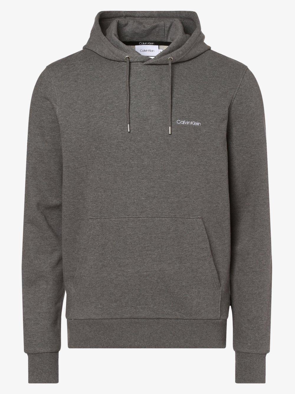 Calvin Klein - Męska bluza nierozpinana, szary