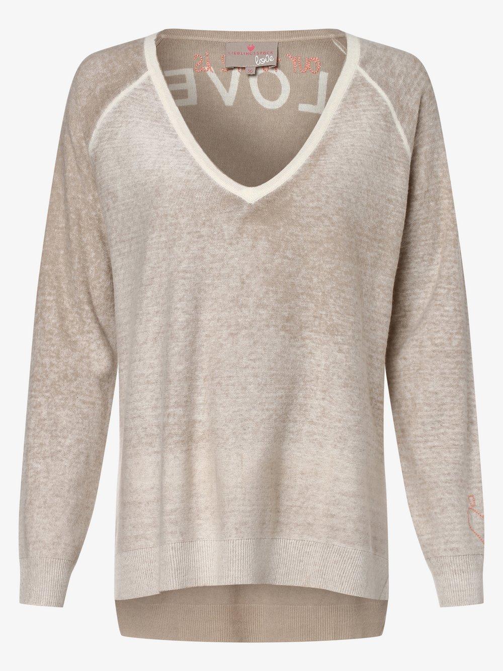 Lieblingsstück – Sweter damski – TorraL, beżowy Van Graaf 463783-0001-00460