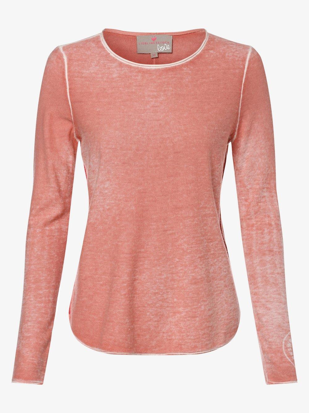 Lieblingsstück – Sweter damski – AilieL, pomarańczowy Van Graaf 463785-0001-00440