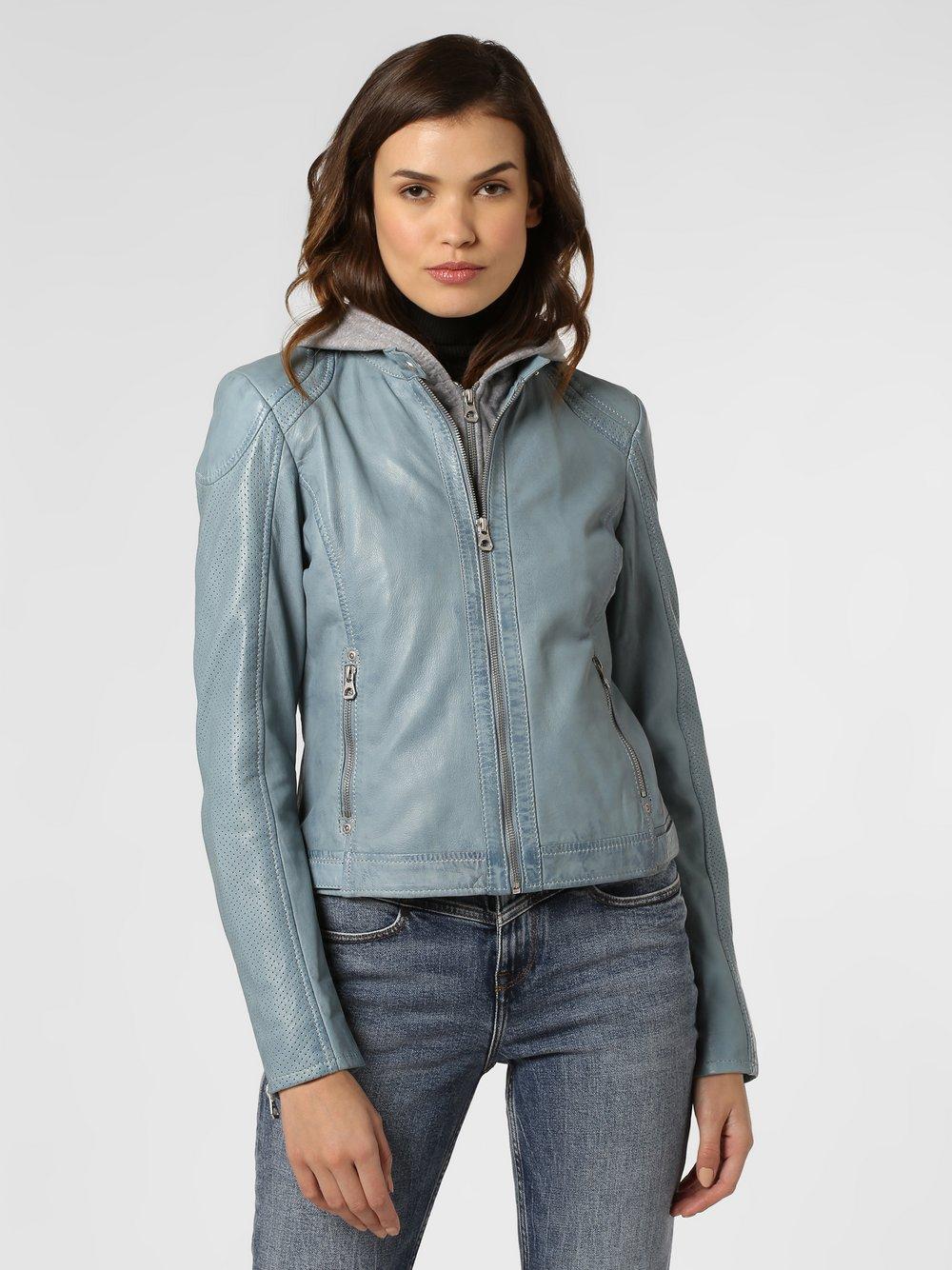 Gipsy – Damska kurtka skórzana – Aelly Lamas, niebieski Van Graaf 463901-0001