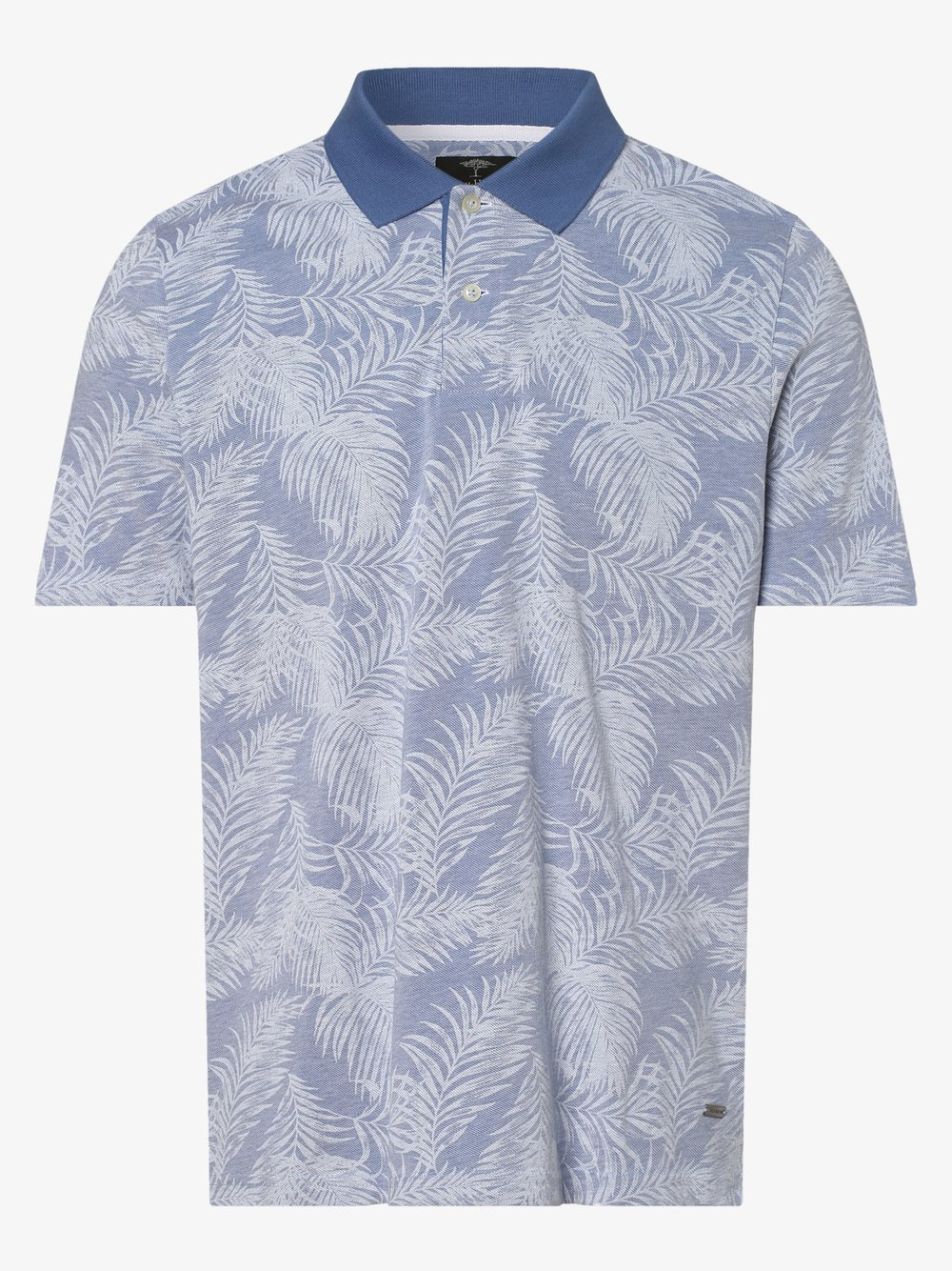 Fynch-Hatton – Męska koszulka polo, niebieski Van Graaf 464076-0002-09940