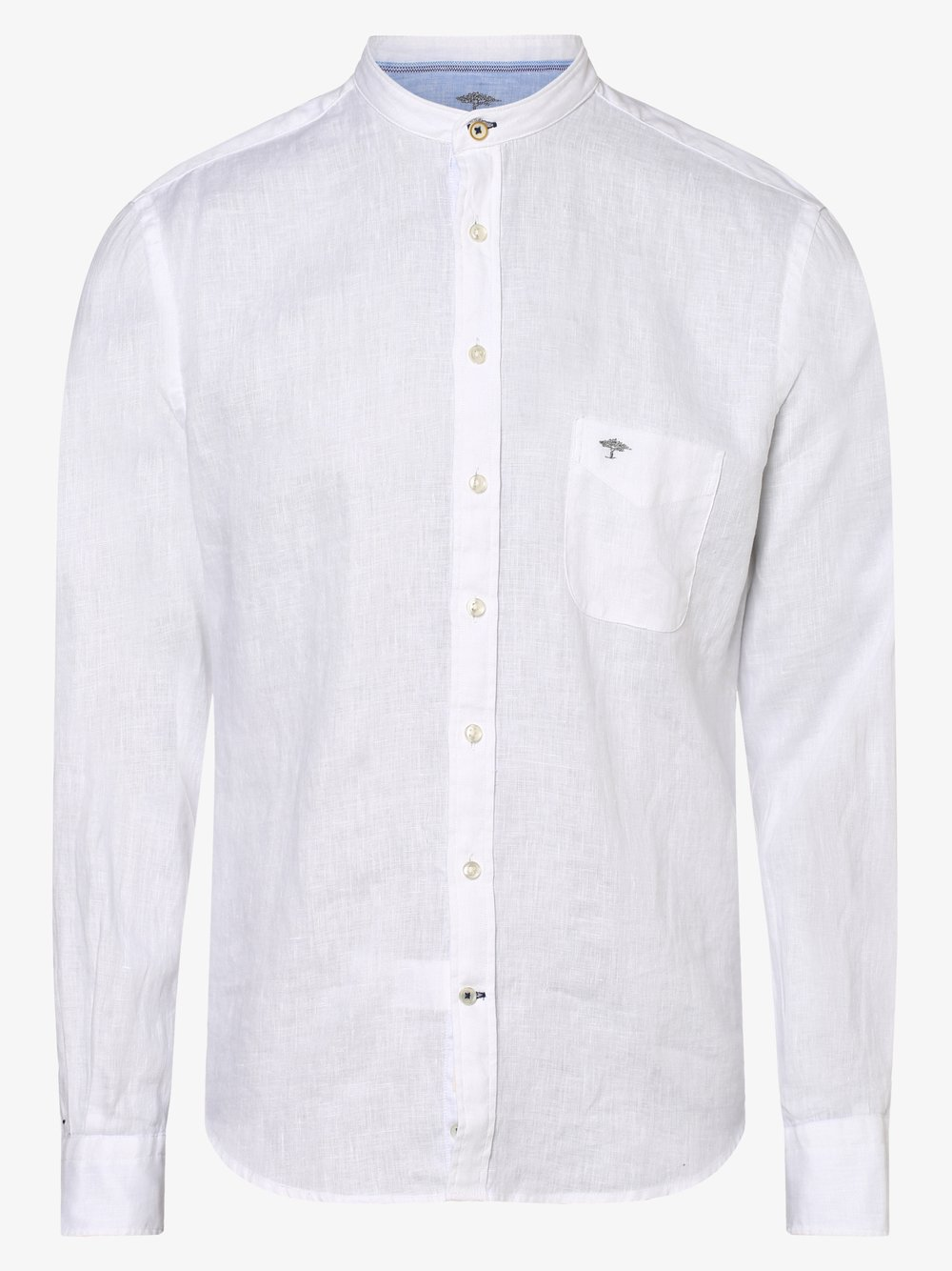 Fynch-Hatton – Męska koszula lniana, biały Van Graaf 464089-0001-09970