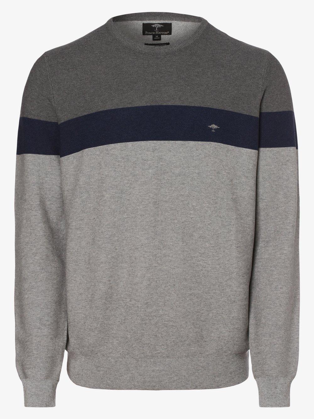 Fynch-Hatton – Sweter męski, szary Van Graaf 464099-0001-09990