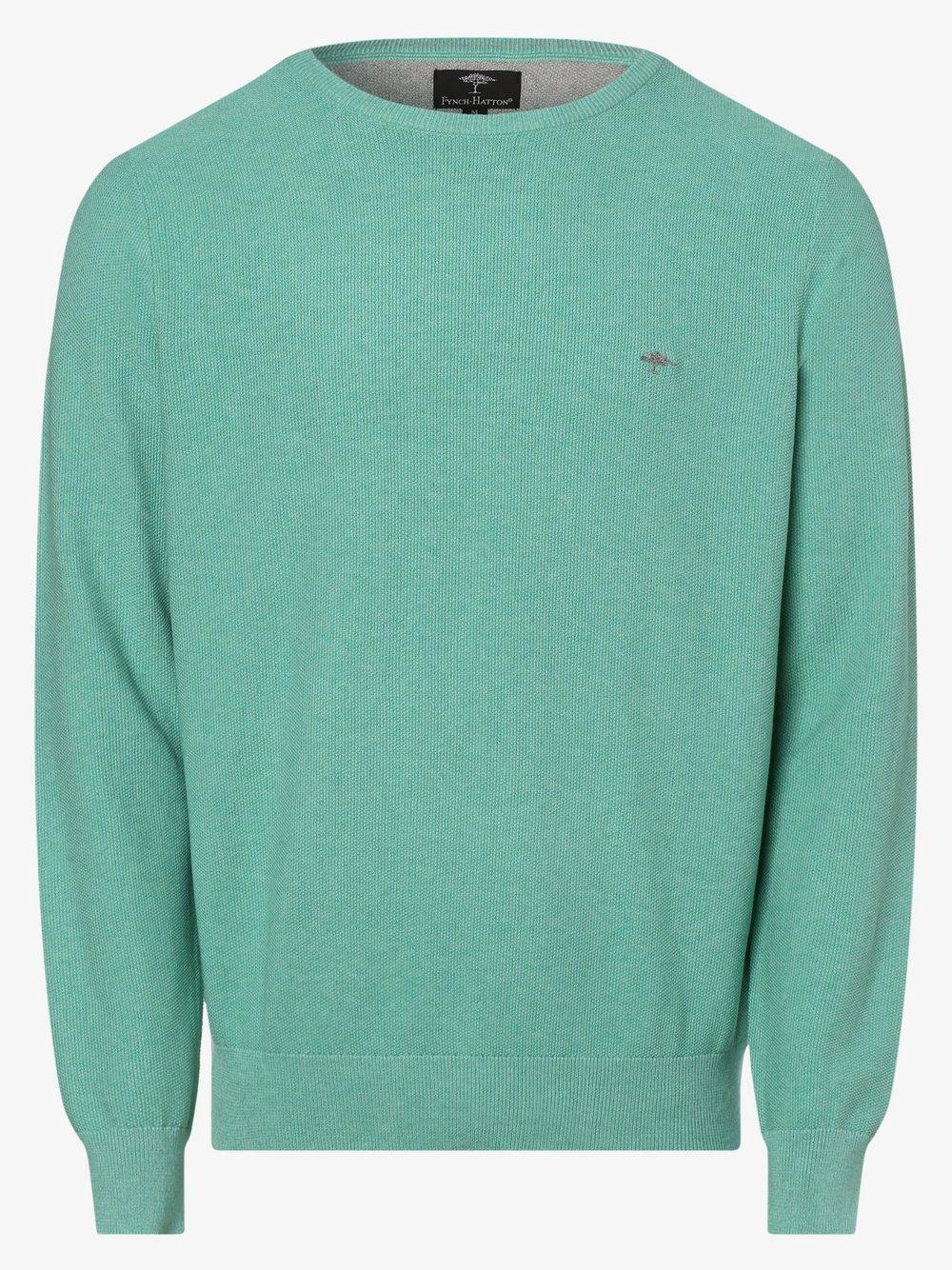 Fynch-Hatton – Sweter męski, zielony Van Graaf 464106-0005-09920