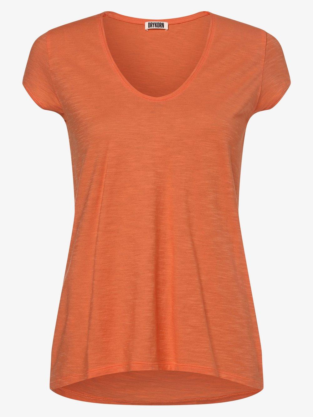 Drykorn - T-shirt damski – Avivi, pomarańczowy