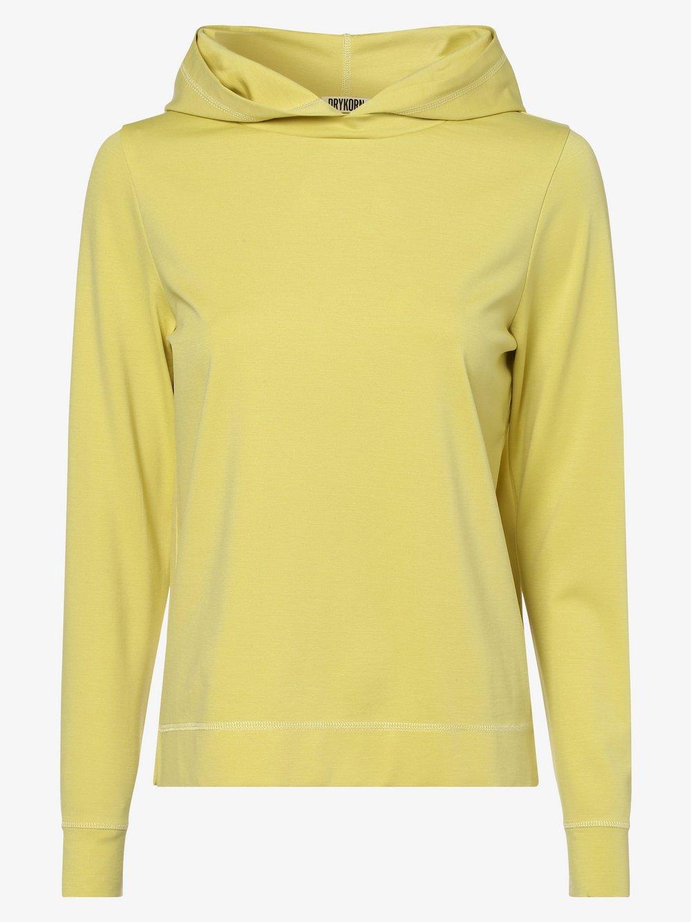 Drykorn - Damska bluza nierozpinana – Papilia, żółty