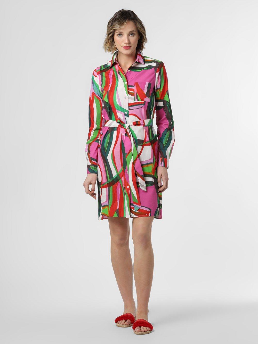 0039 Italy – Sukienka damska – Gracia, różowy Van Graaf 464305-0001