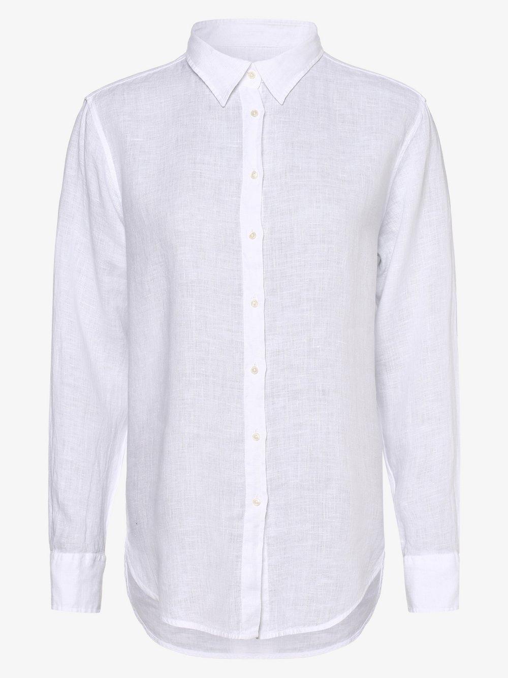 0039 Italy – Lniana bluzka damska – Sanja, biały Van Graaf 464315-0001-09920