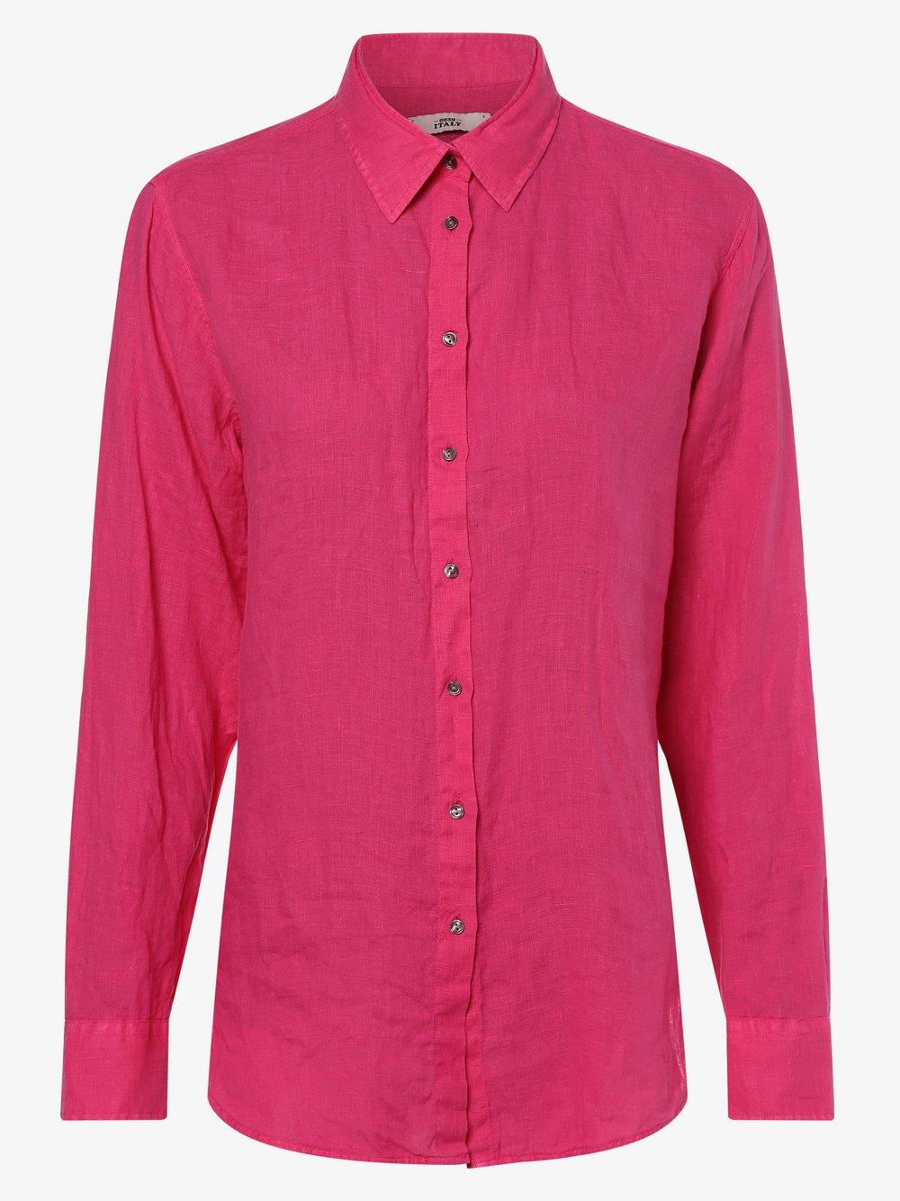0039 Italy – Lniana bluzka damska – Sanja, różowy Van Graaf 464315-0002-09940