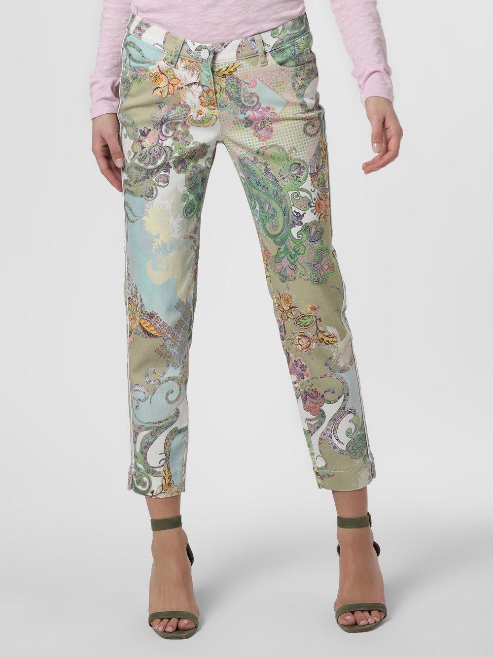TONI – Spodnie damskie, zielony Van Graaf 464319-0001-00460