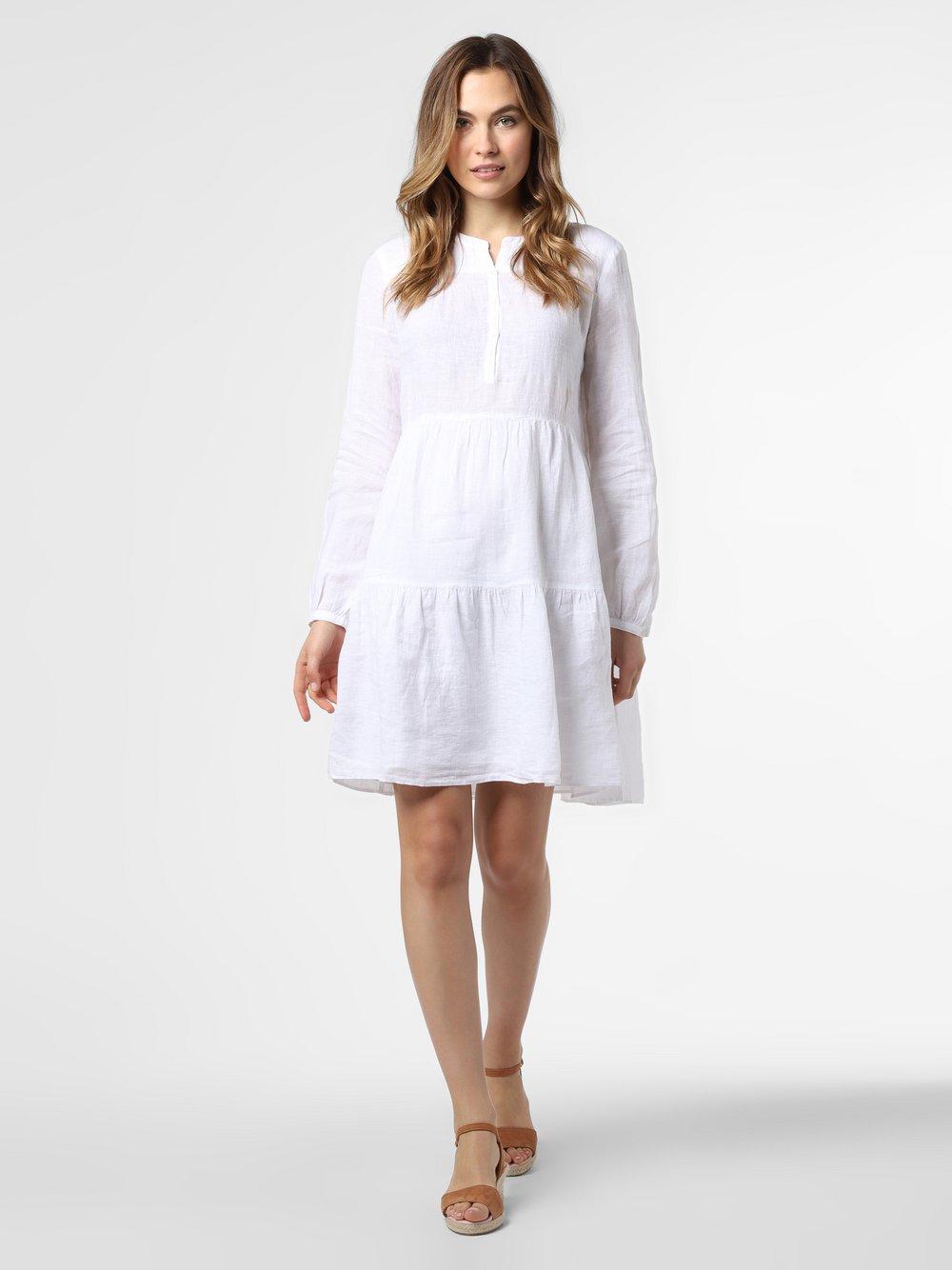 0039 Italy – Damska sukienka lniana – Ricarda New, niebieski Van Graaf 464324-0001-09900