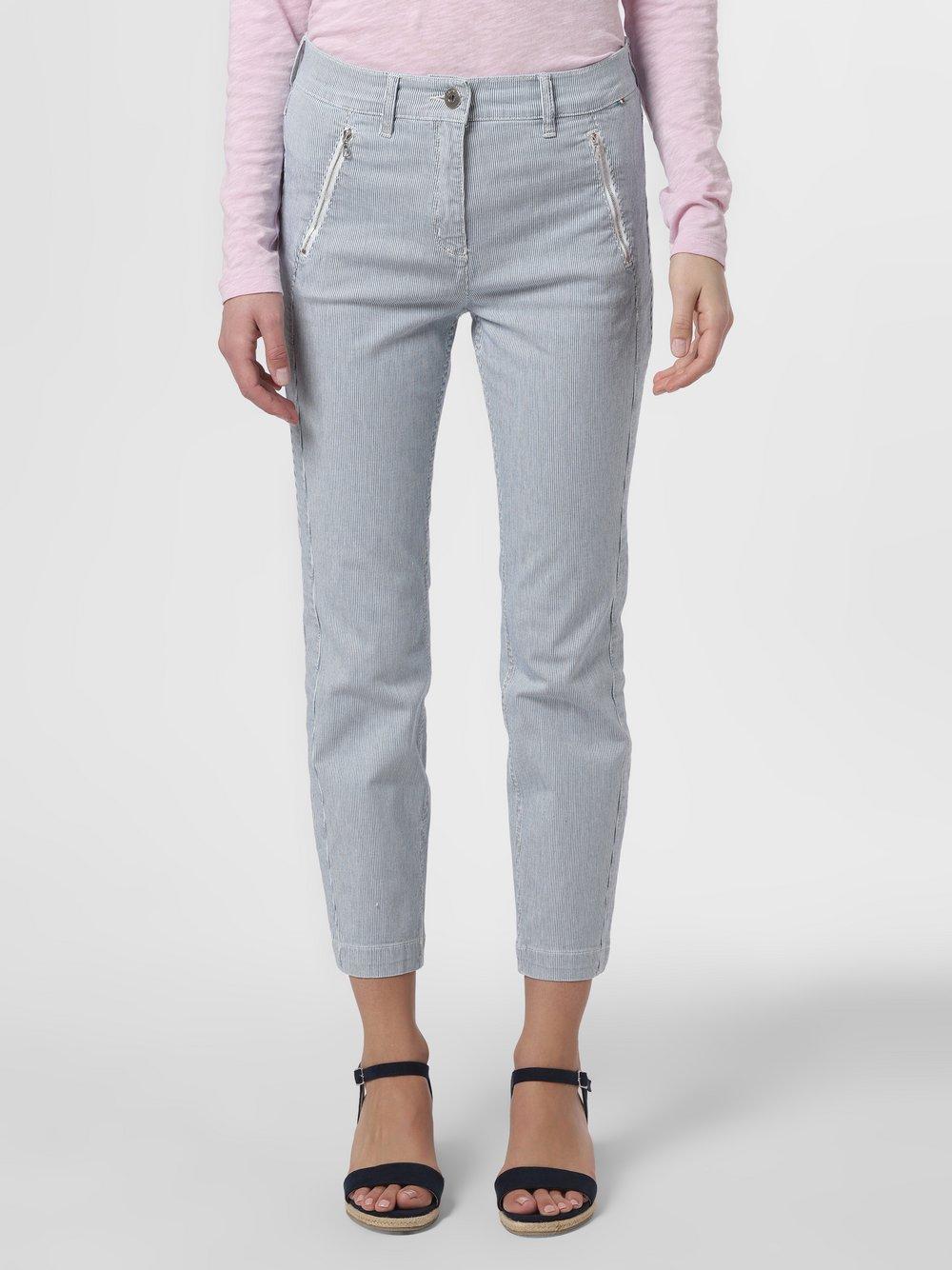 TONI – Spodnie damskie, niebieski Van Graaf 464326-0001-00460
