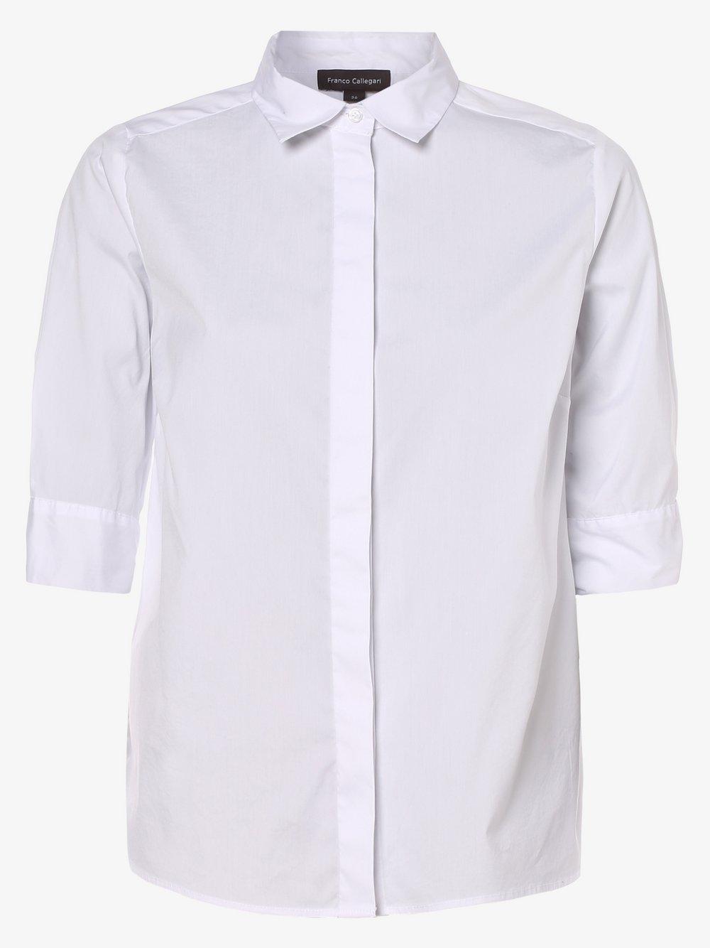 Franco Callegari – Bluzka damska, biały Van Graaf 464331-0001-00420