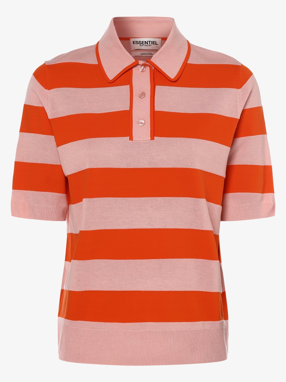 Essentiel Antwerp – Damska koszulka polo – Vailhac, pomarańczowy Van Graaf 464356-0001-09920