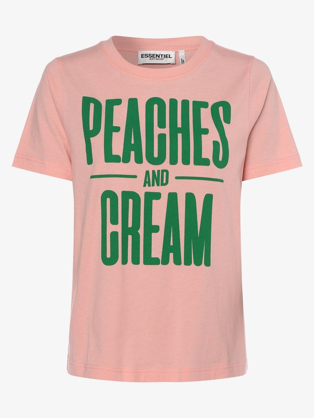 Essentiel Antwerp – T-shirt damski, różowy Van Graaf 464369-0001-00360