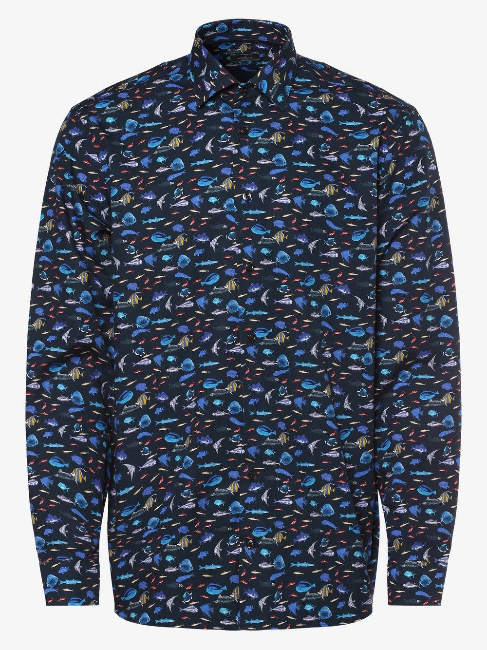 Van Laack – Koszula męska, niebieski Van Graaf 464617-0002-00390