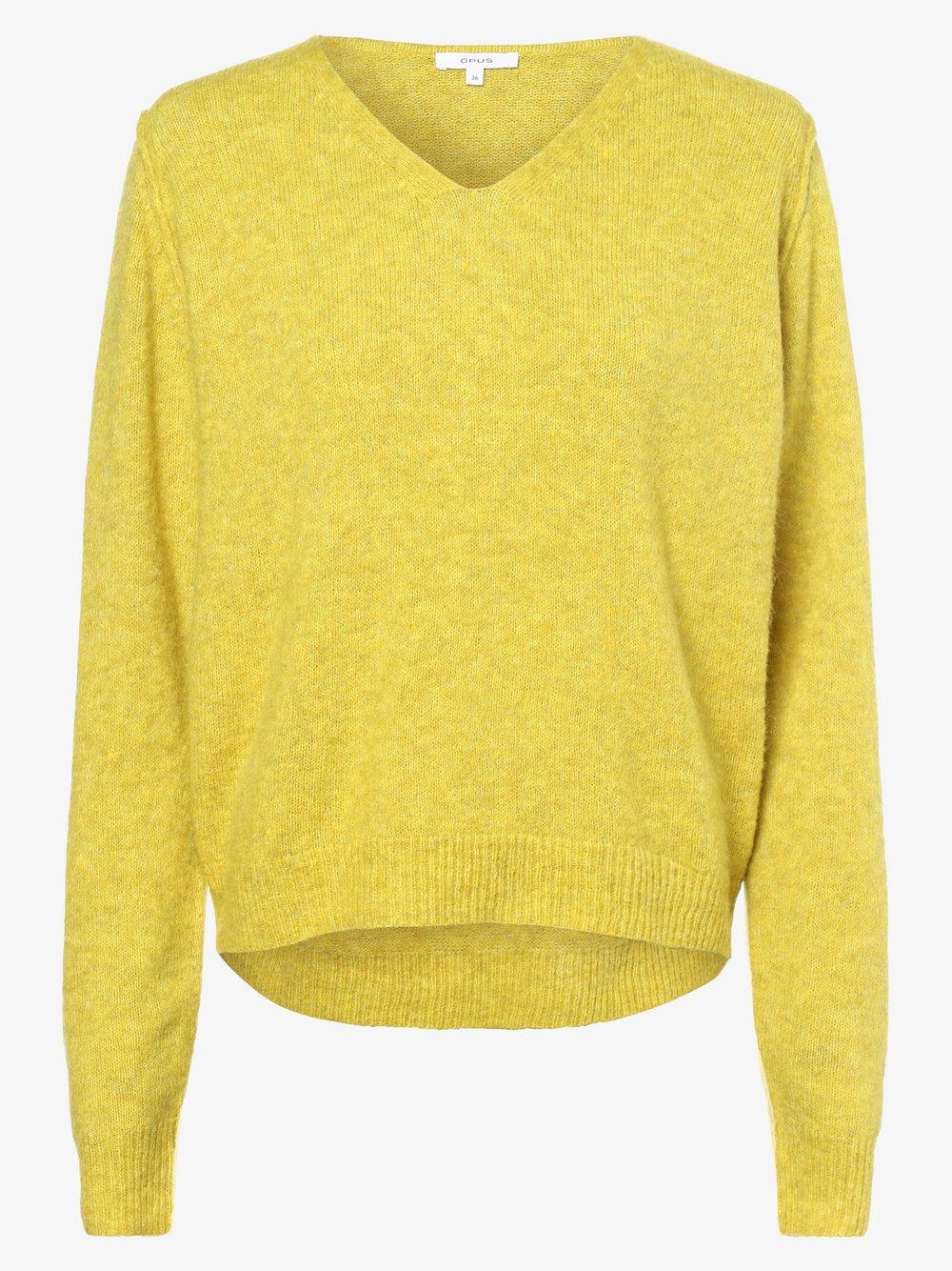 Opus - Sweter damski z dodatkiem moheru – Plunch, zielony