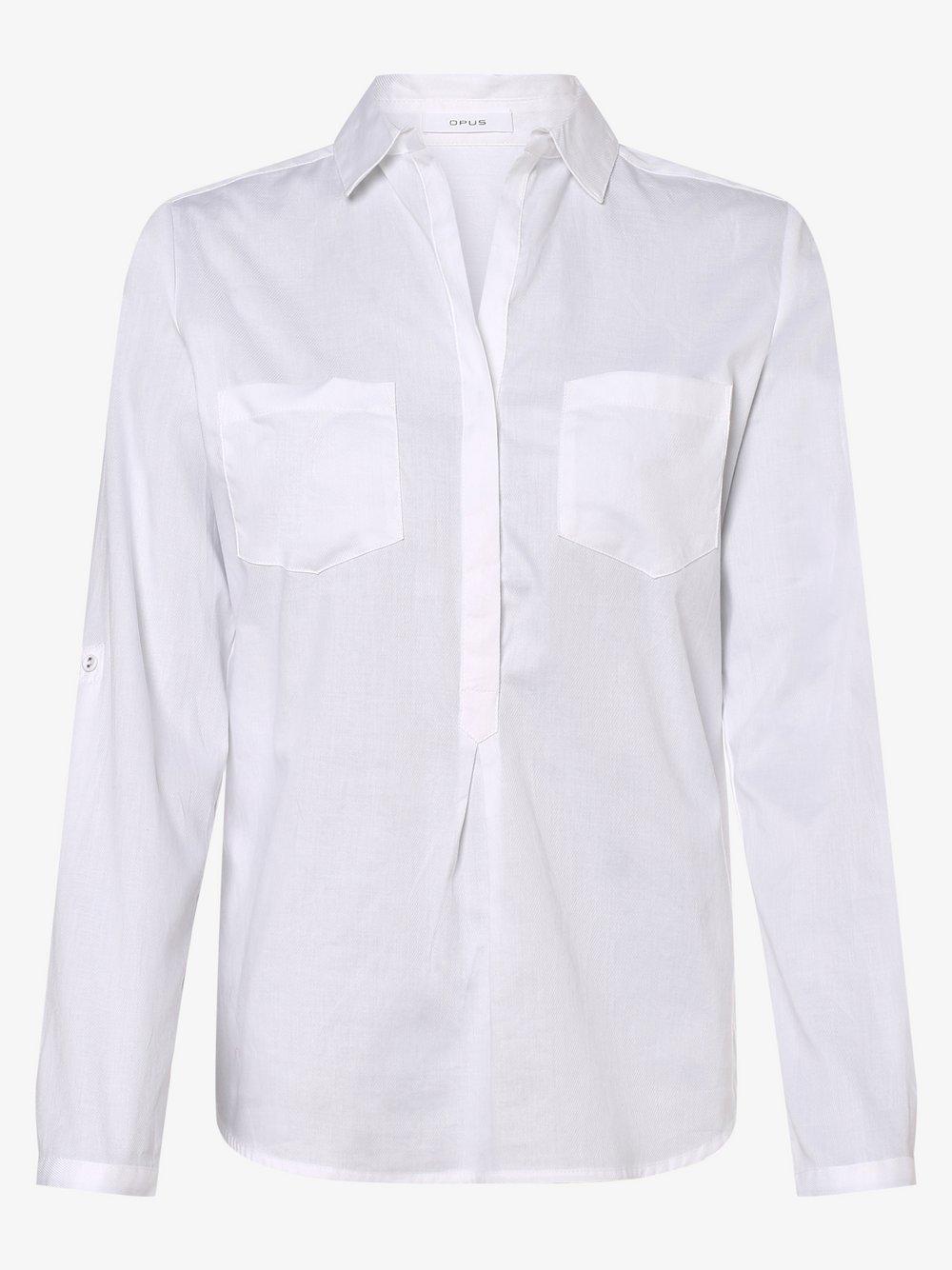 Opus - Bluzka damska – Falenta, biały