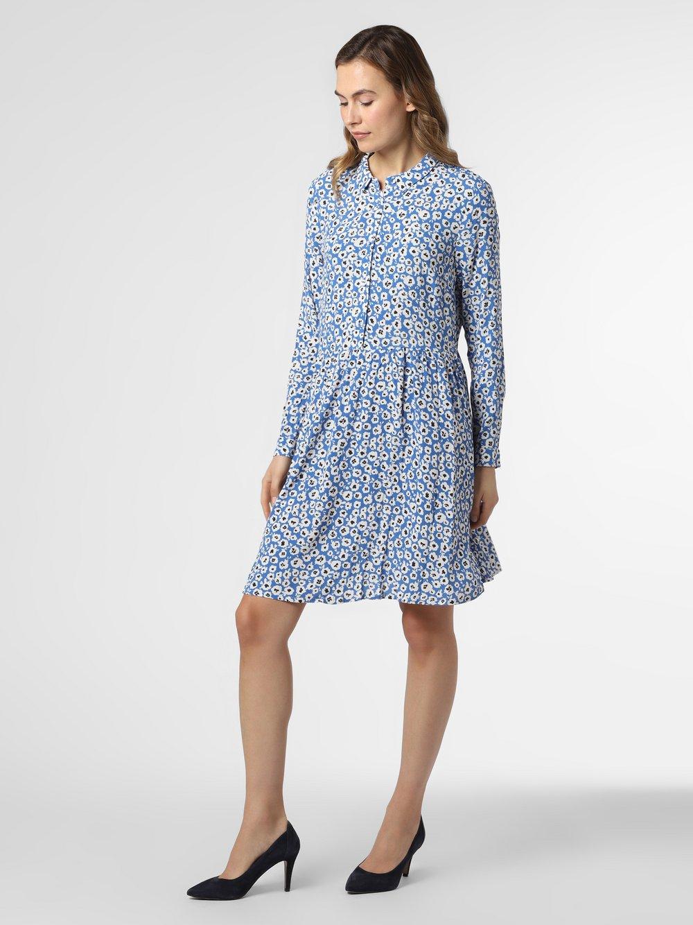 Minimum – Sukienka damska – Bindie, niebieski Van Graaf 464882-0001